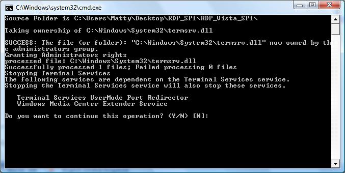 Enable Concurrent Sessions In Windows Vista Business and Ultimate (SP1 32 and 64bit)